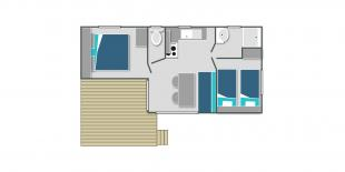Map of the mobile home Loggia in Annecy lake