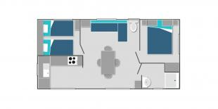 Map of the mobile home Lac + in Lathuile