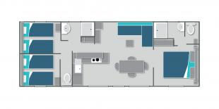 Map of the mobile home Premium 3 bedrooms in Annecy lake