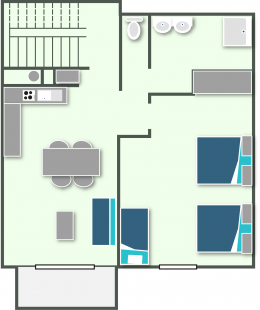 Map of the apartment T2 for rent in Annecy