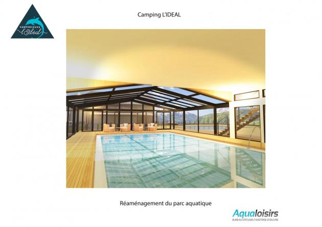 camping ideal piscine couverte